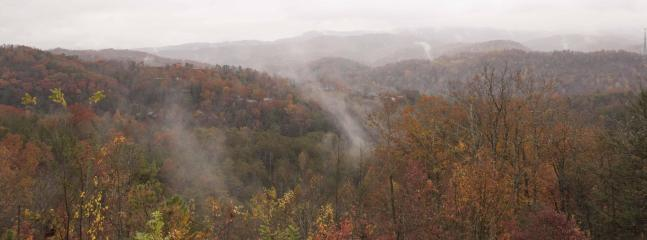 Misty Fall Morning View