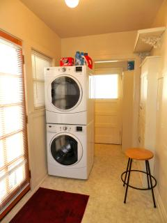 Laundry, just off the kitchen