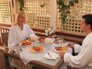 Breakfast on your private verandah