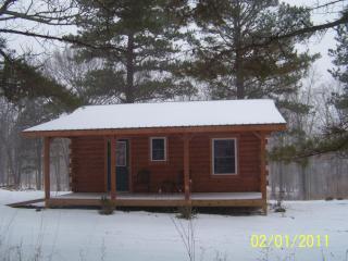 Winter at Jack's little log cabin