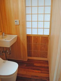 The modern Japanese toilet Washlet