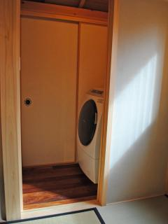 Large capacity drum-type washer-dryers provide in the closet