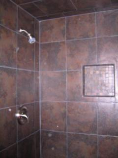 New walk in shower.
