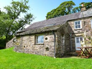 SALLY END, stone-built cottage, with woodburner, off road parking, and close to