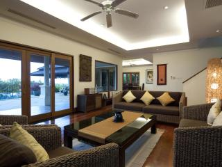 Spacious living Room (45m2), first floor, fronting swimming pool - seats 8 people