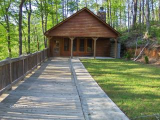 log cabin, canoeing, fishing, Heflin