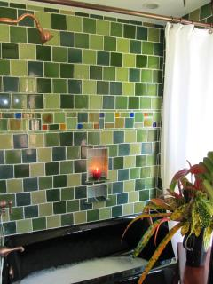 Hand-made glass tiles