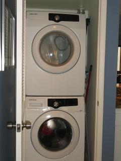Samsung washer and dryer in unit