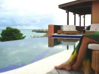 4 en-suite bedrooms, 4 bathrooms, a large beautiful infinity pool, overlooking the picturesque harbour (v), Lance aux Epines