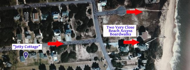 Short walk to the beach with two very close and convenient public beach boardwalks!