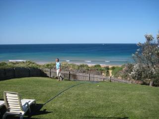 view From deck  onto  Backyard & Ocean
