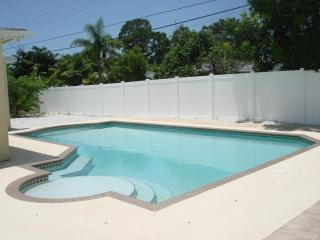 Large, private, saltwater pool