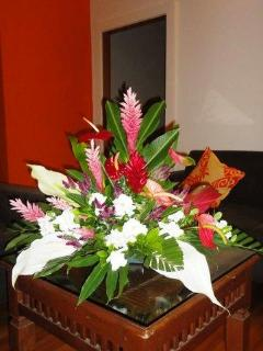 Flowers by Mama Terii!  The finishing touches to the house  fresh flower arrangements in every room!