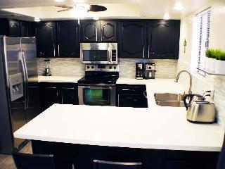 Stainless appliances and quartz countertops in stunning kitchen Anasazi Village Condos Resort