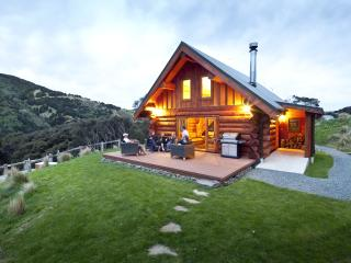Secluded, private log chalet overlooking native bush vallley- near Dunedin