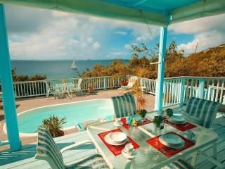 French Cap -2 bdm pool villa-sunsets-hear the surf below, Virgin Islands National Park