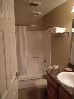 Second Bathroom. A shower transfer chair is available