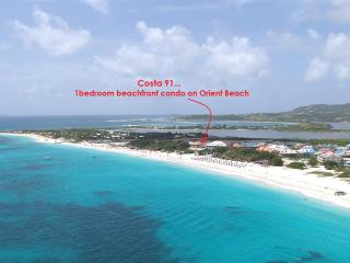 COSTA CARAIBES 91... the best value on Orient beach!!  Charming beachfront condo with high end amenities (close to nudist beach), St. Maarten-St. Martin