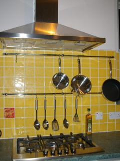 Cook up some local produce and save money on restaurant meals out in the well -equipped kitchen