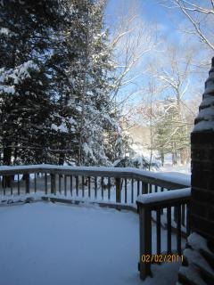Outside Deck in Winter