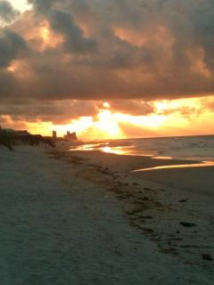 Sunrise from beach steps