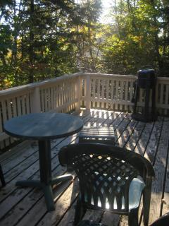Outside Deck with Electric Grill