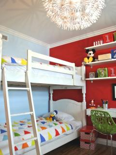 Another view of the kids room with Pottery Barn bunk bed
