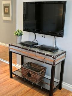 37' HD TV in Master bedroom with Bluray player, cable and plenty of movies provided for you