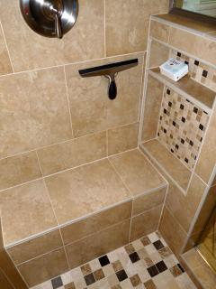 Master Bath Shower Shampoo Cubby