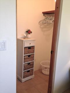 The second bedroom also has a sizable walk in closet for all of your belongings