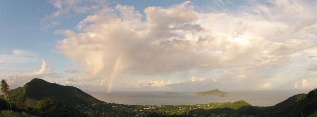 rainbow over Palm Island