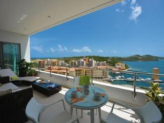 Moonrise at Blue Residence, Cupecoy, Saint Maarten - Pool, 180 Degree View of