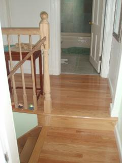 Upstairs hall: Oak floors through out both floors.