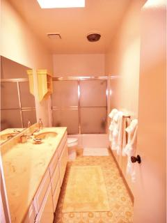 Spacious Master Bath with sky light, 2nd bathroom is also good size.