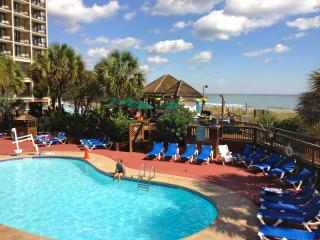 Stunning clean renovated oceanfront condo with 5 pools, hot tubs, lazy river.