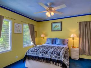 Bedroom with a/c, wardrobes & queen size bed