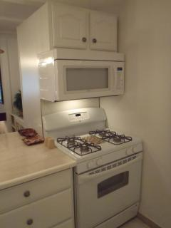 Full sized stove and microwave