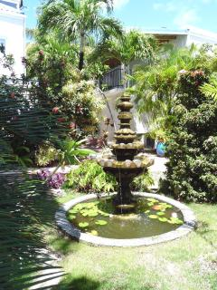 Part of our lush tropical garden walkway