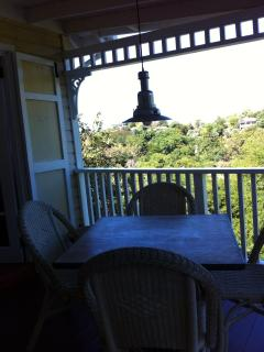 Calabash cottage view from the verandah