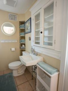 Cute bathroom with plush soft towels