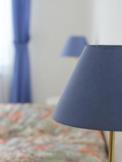 bedroom with beside lamps