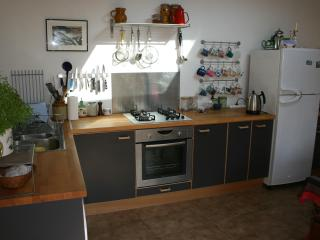 Large renovated kitchen easily seats 10. Well equipped for most cooking/baking needs.