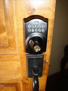Front door secutity lock system - no keys to worry about!