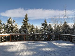 Spacious deck. While we can't guarantee a white Christmas, this was taken in October!