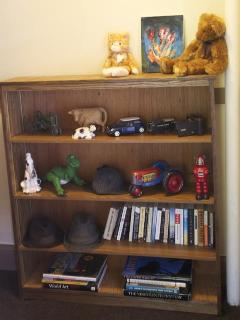 The shelves in the hall have some books and toys if you bring children.