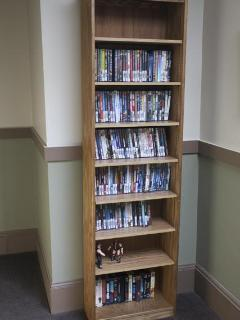 There's also a huge collection of DVD's available in the main hall.