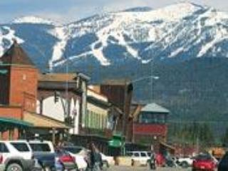 The quaint downtown of Whitefish