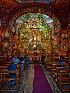 SANTO DOMINGO CHURCH, sample of Quitenian colonial art