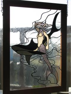 the second mermaid stained glass picture