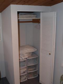 Upstairs/Loft Closet